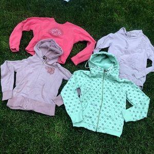 Lot of 4 volcom sweatshirts